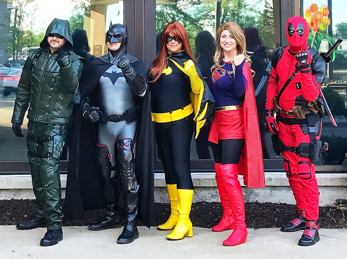 Cosplay Crusaders visit Mary Free Bed Rehabilitation Hospital.