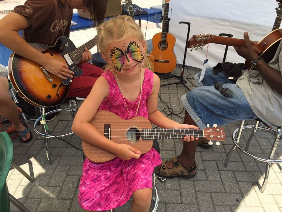 Family Guitar Tent, 2015 GRandJazzFest. Photo by Christopher John Wilson
