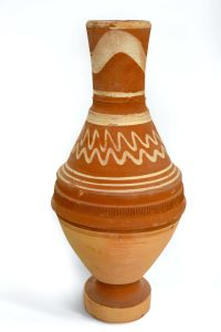 Olla (water jug), unglazed and low-fired ceramic purchased in Cairo (Egypt), 2001 Photo courtesy of GVSU Art Gallery