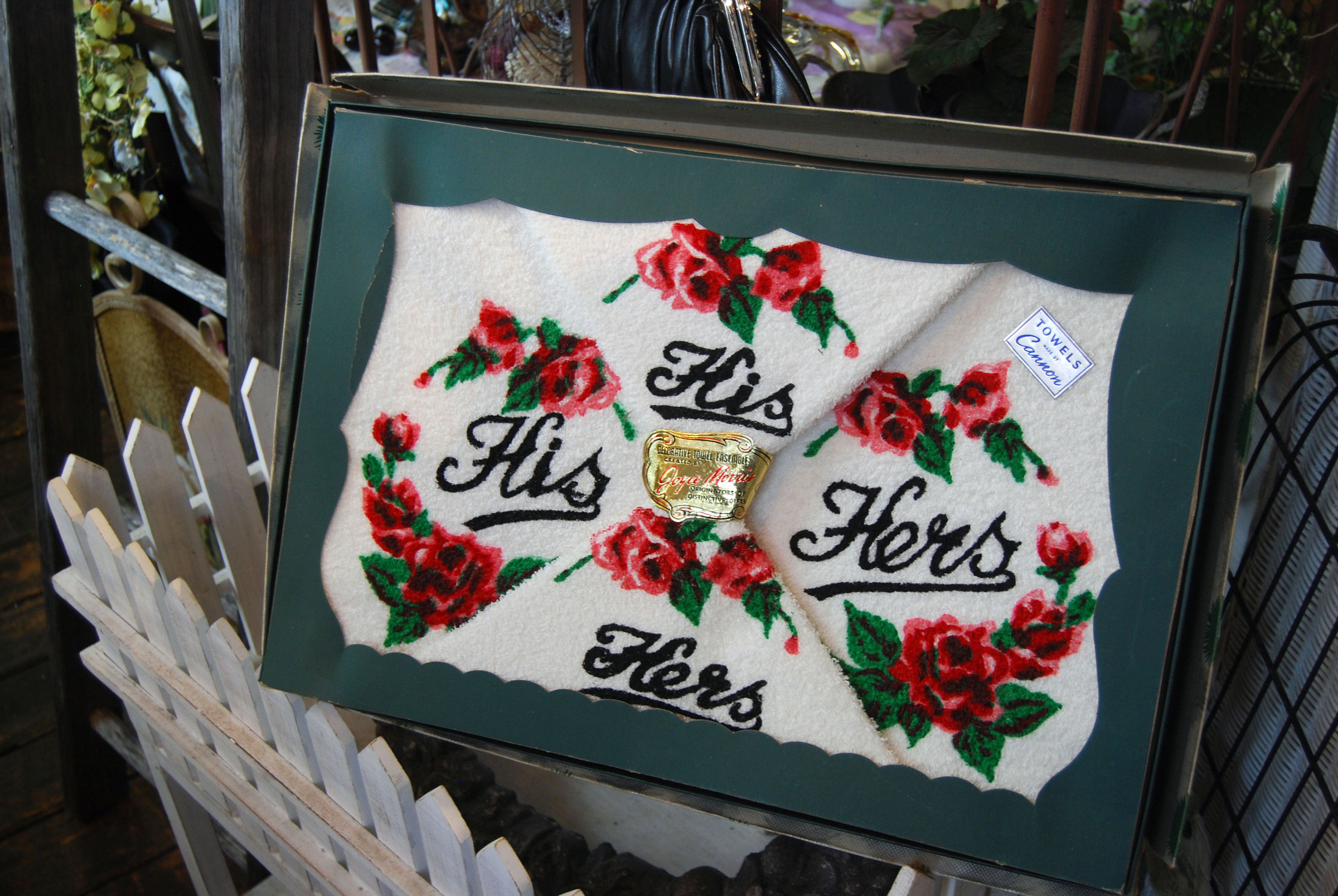 His & Hers towel set from 1920s