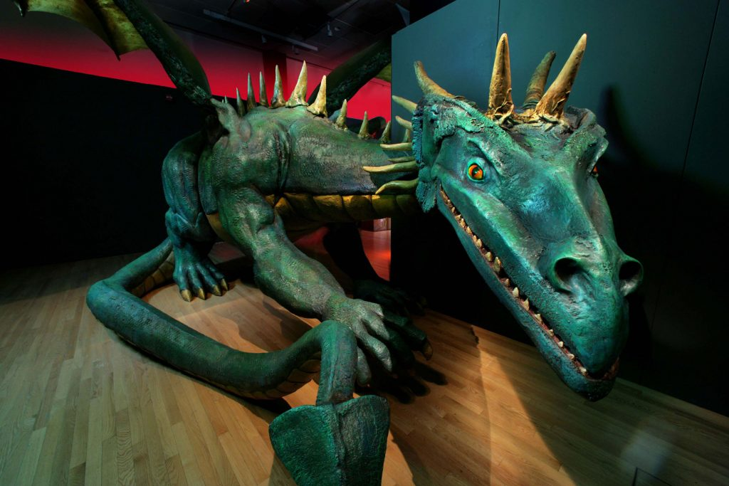 This 17-foot-long dragon with a wingspan of over 19 feet guards the entrance to the exhibition. ©MNH/D. Finnin