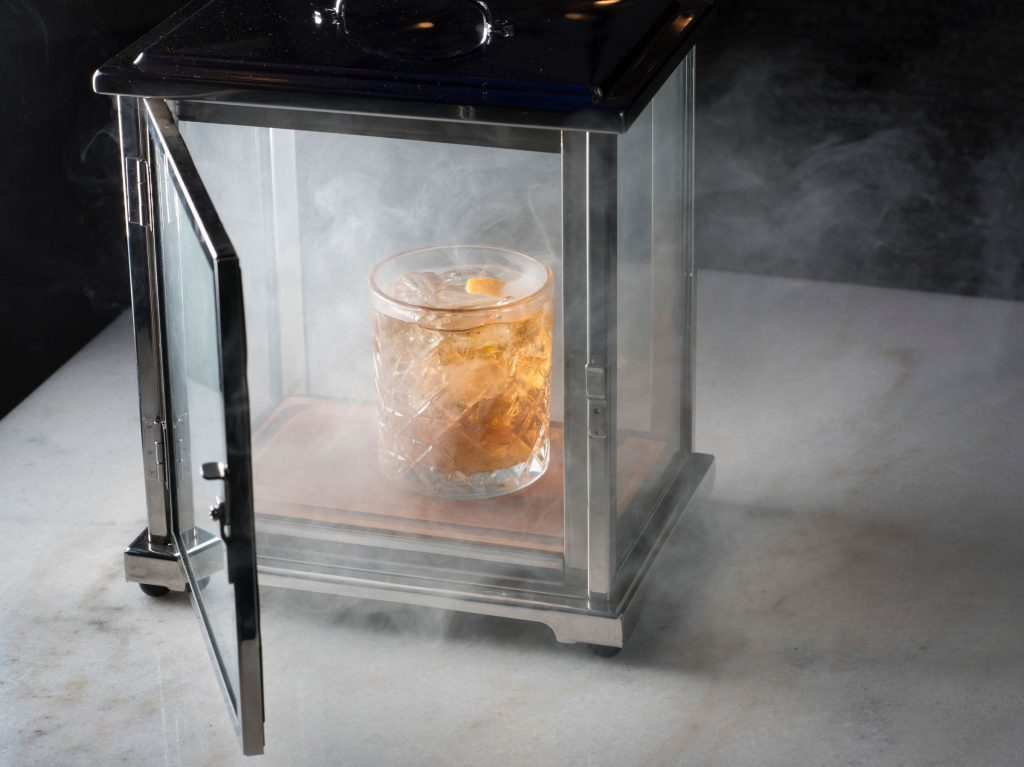 Smoked Old Fashioned harkens back to the hotel's historic past.