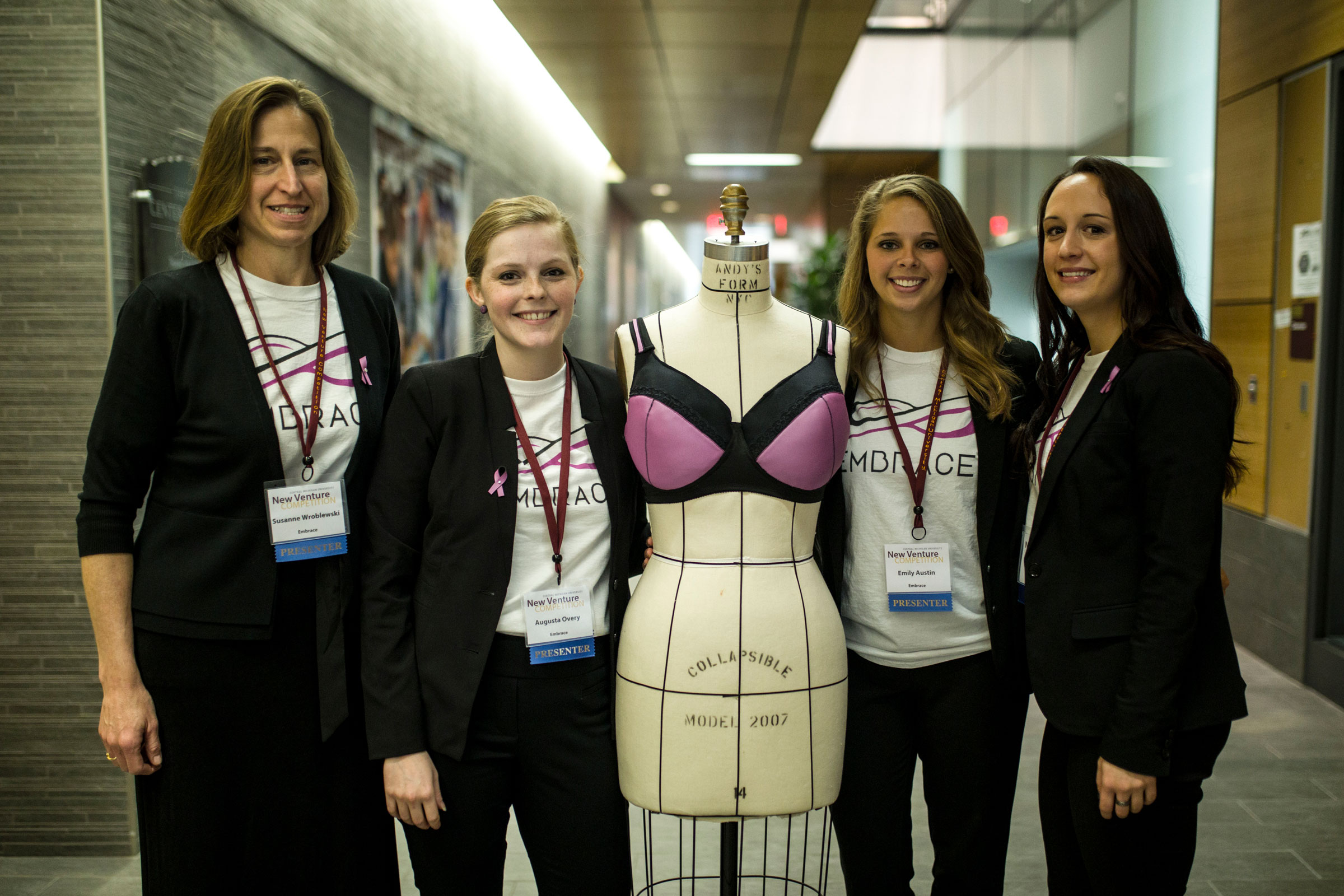 Central Michigan University students help develop thermal bra.