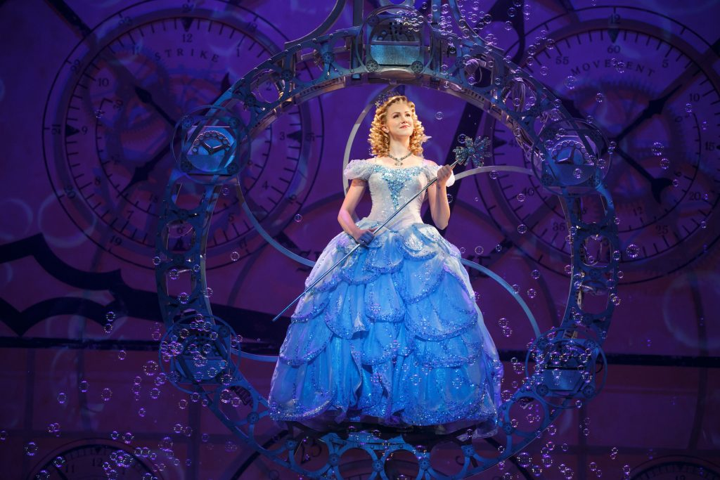 "Ginna Claire Mason as Glinda in ""Wicked."" Photo by Joan Marcus"