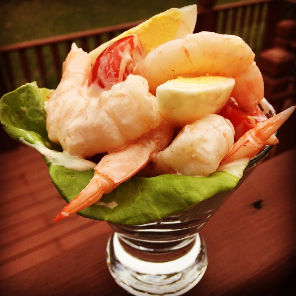 Bier Distillery's take on the shrimp cocktail for Cocktail Week.