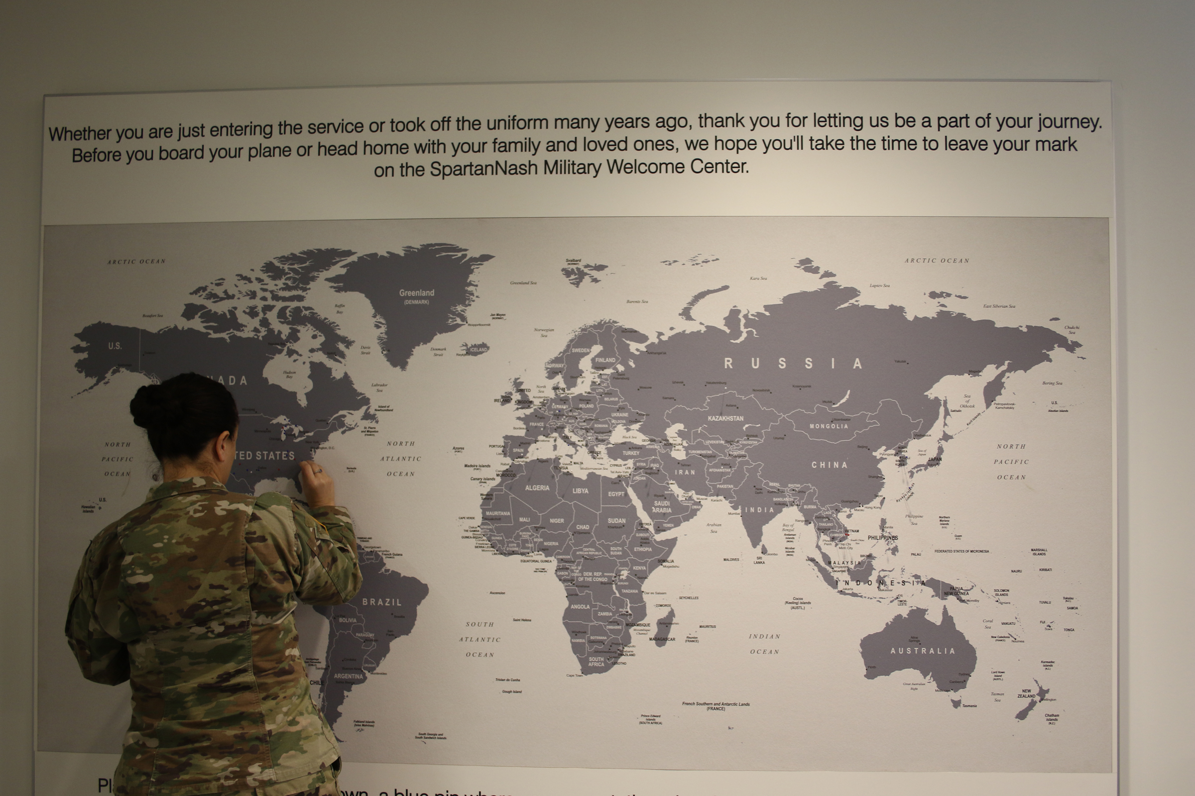 Gerald R. Ford International Airport, in partnership with SpartanNash, opened the Military Welcome Center this week.