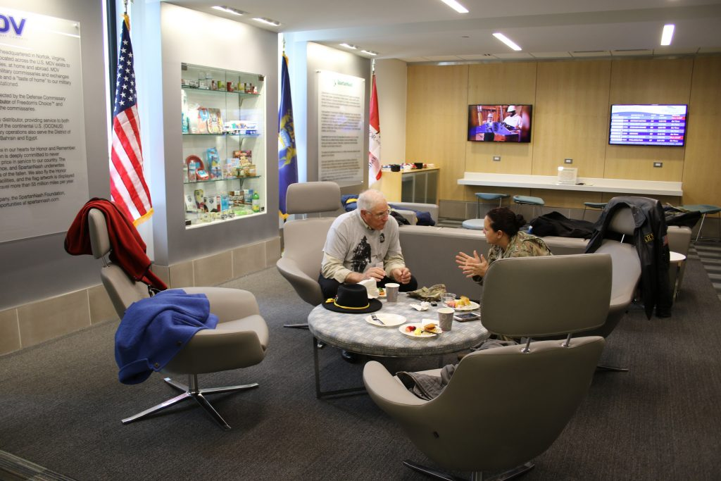New Military Welcome Center gives military personnel, veterans and their families a quiet place to relax.