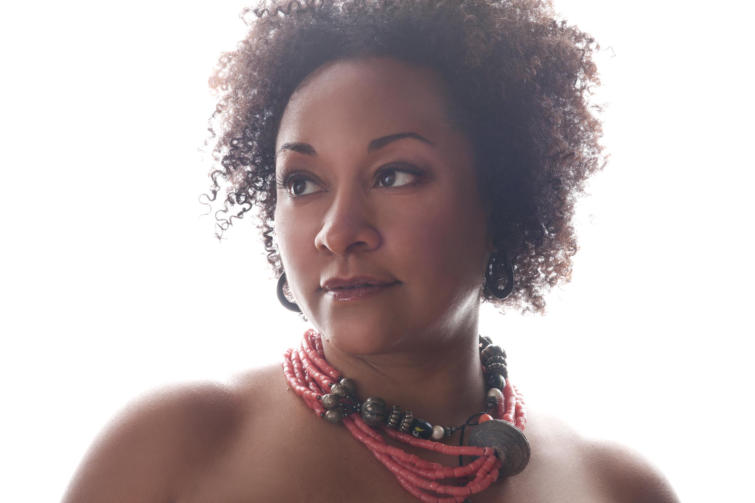 Karisa Wilson plays GRPL's Music in the Stacks concert series.