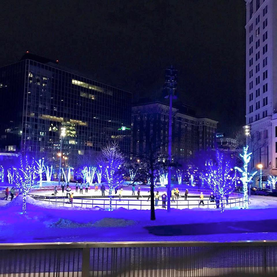 Rosa Parks Circle ice rink opens for the season on Friday, Nov. 24.