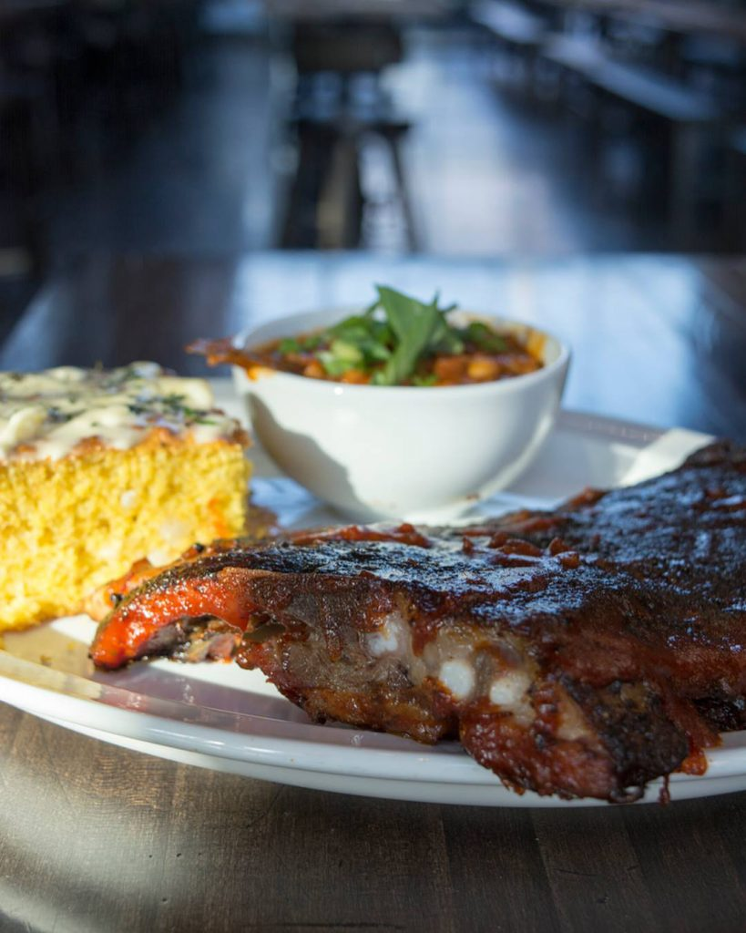 Enjoy a plate of ribs at The Knickerbocker.