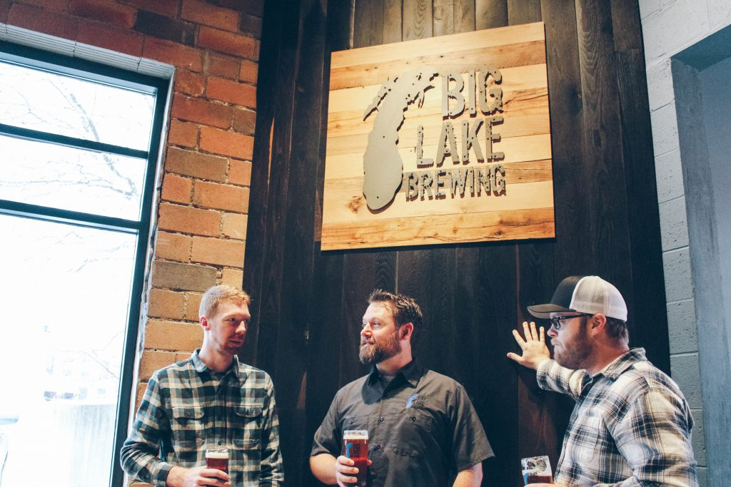 Owners Travis Prueter, Nicholas Winsemius and Gregory MacKeller founded Big Lake Brewing four years ago.
