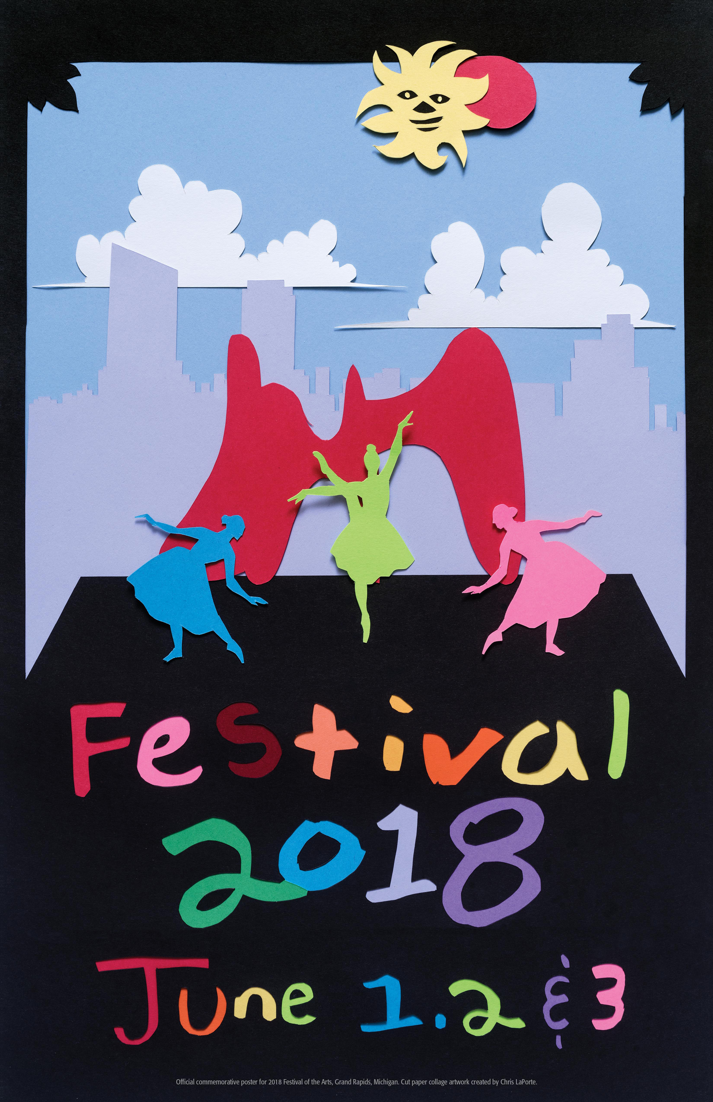 2018 Festival of the Arts Poster designed by Chris LaPorte
