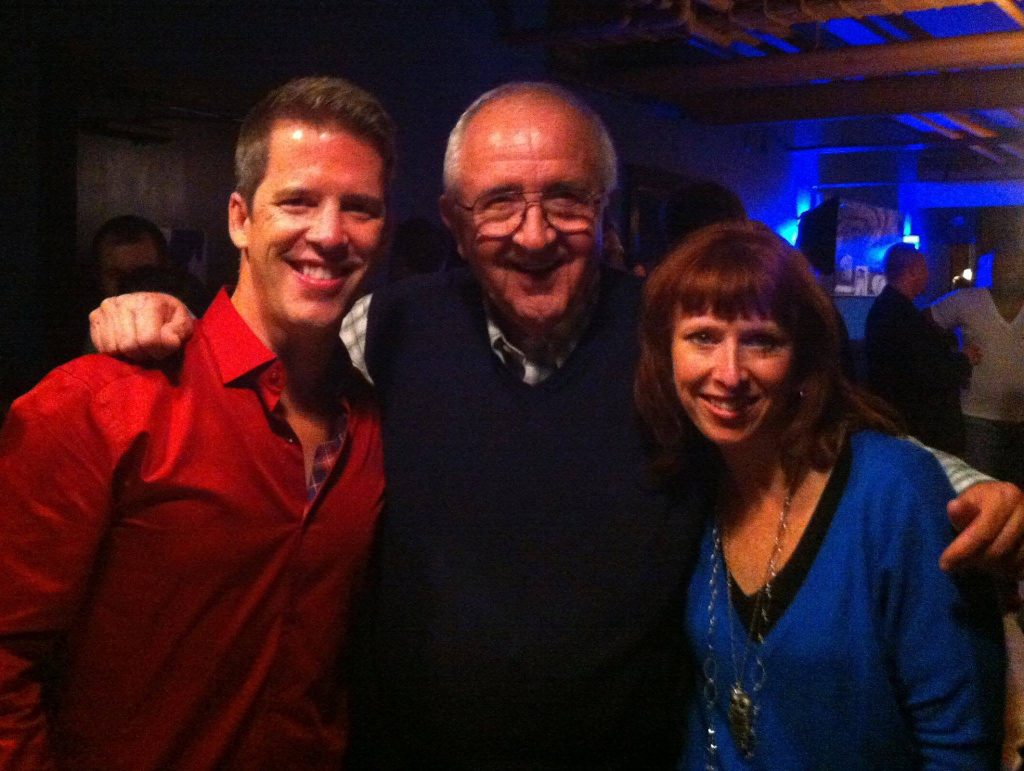 Patrick Zeigler and Teresa Those with Fred Sebulske, founder of Actors' Theatre