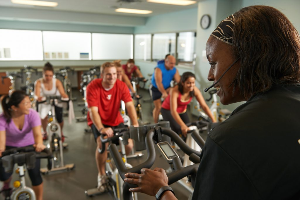 YMCA members have access to free group fitness classes.