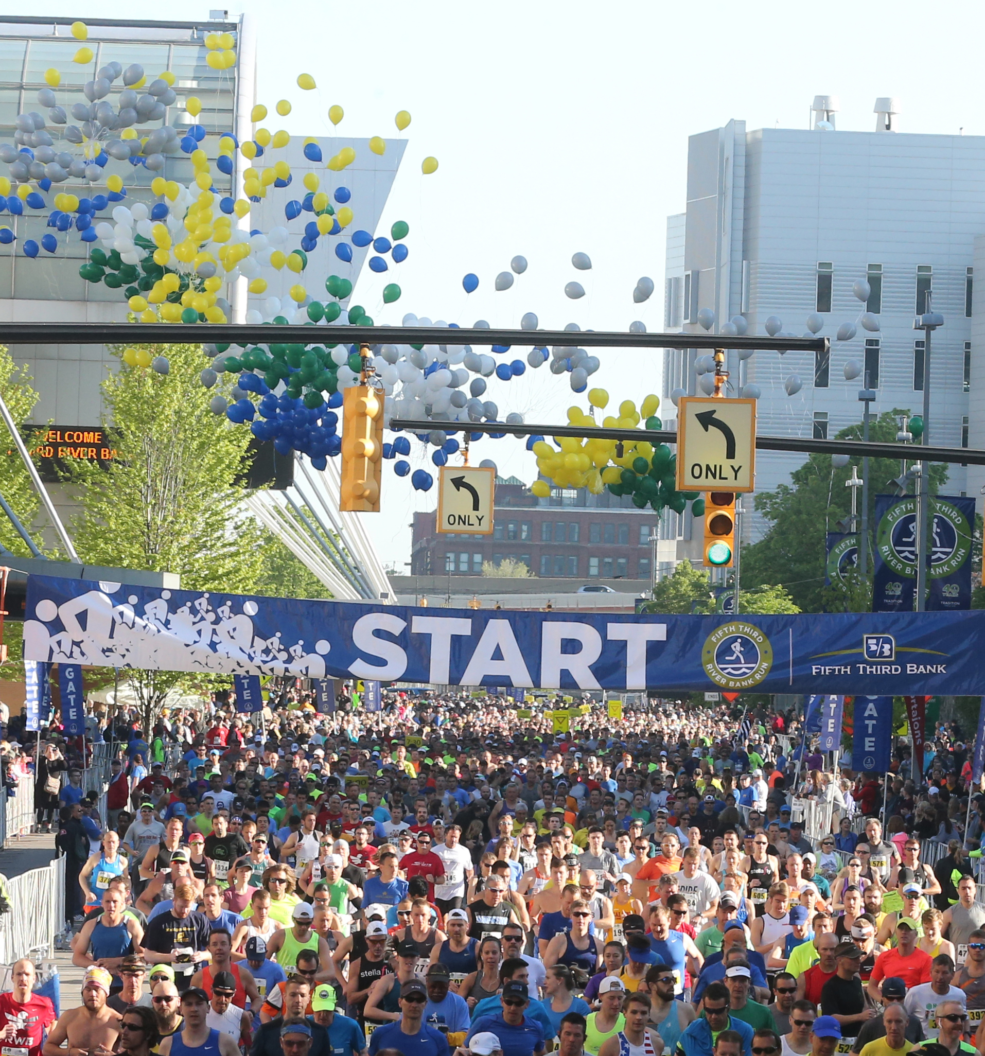This year's Fifth Third River Bank Run is scheduled for May 12.