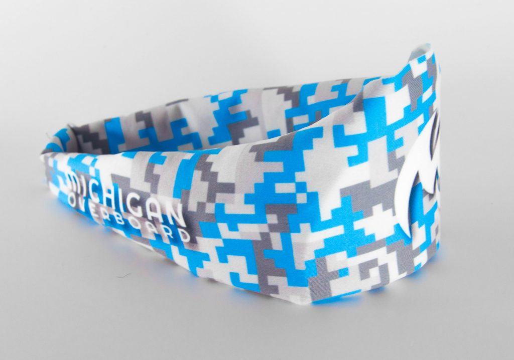 Michigan Overboard's athletic headbands are fun accessories for the outdoors and active lifestyles.