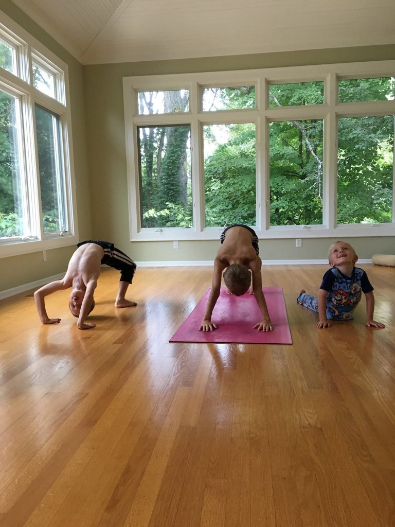 Classes combine yoga with various games, breathing techniques and mindfulness activities so kids can have fun during their yoga practice.