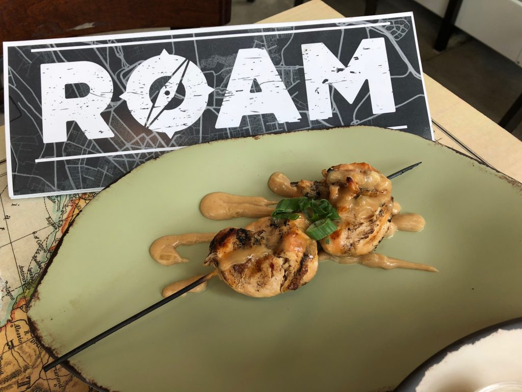 Roam's satay has its roots in Indonesia.