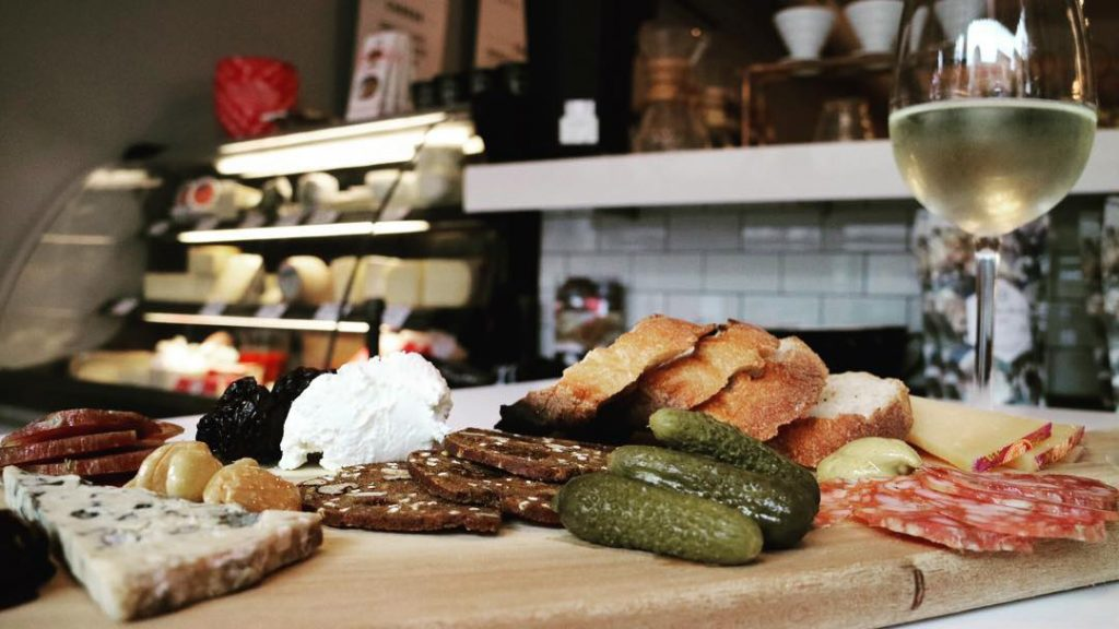 Squibb offers charcuterie along with its wine and coffee selections.