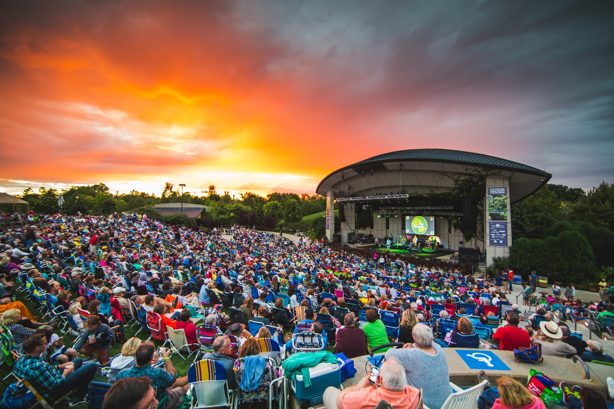 Meijer Gardens outdoor concert series. Photo by Tony Norkus