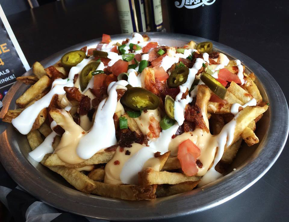 Garage Bar & Grill Nitro Nachos.