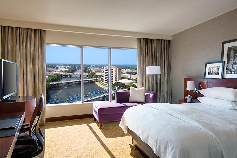 Standard king room at the JW Marriott