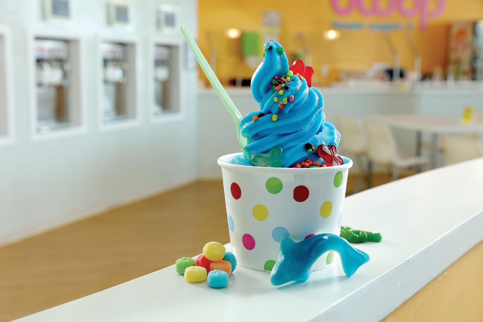 Bloop Frozen Yogurt Photo by Mike Buck
