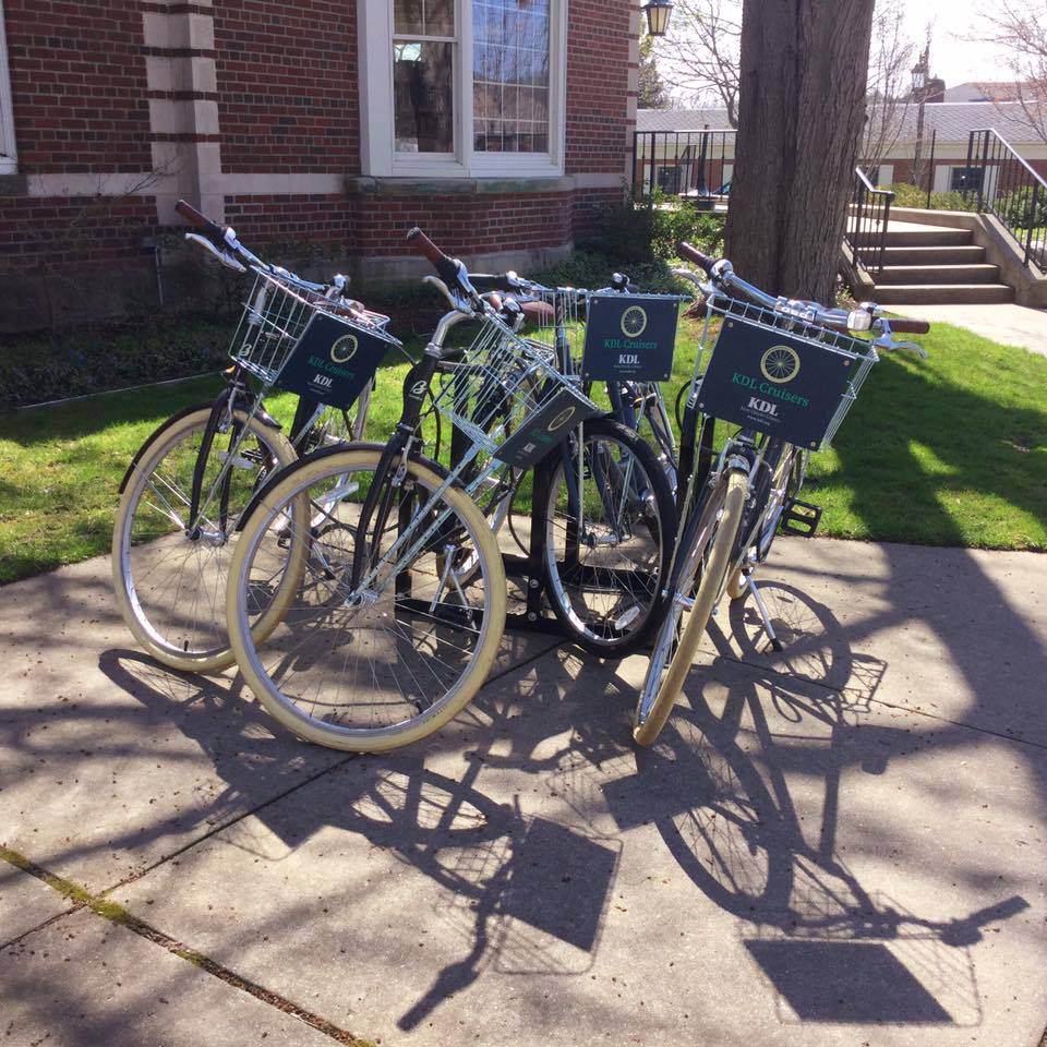 The KDL Cruisers program lets you check out a bike for the day.
