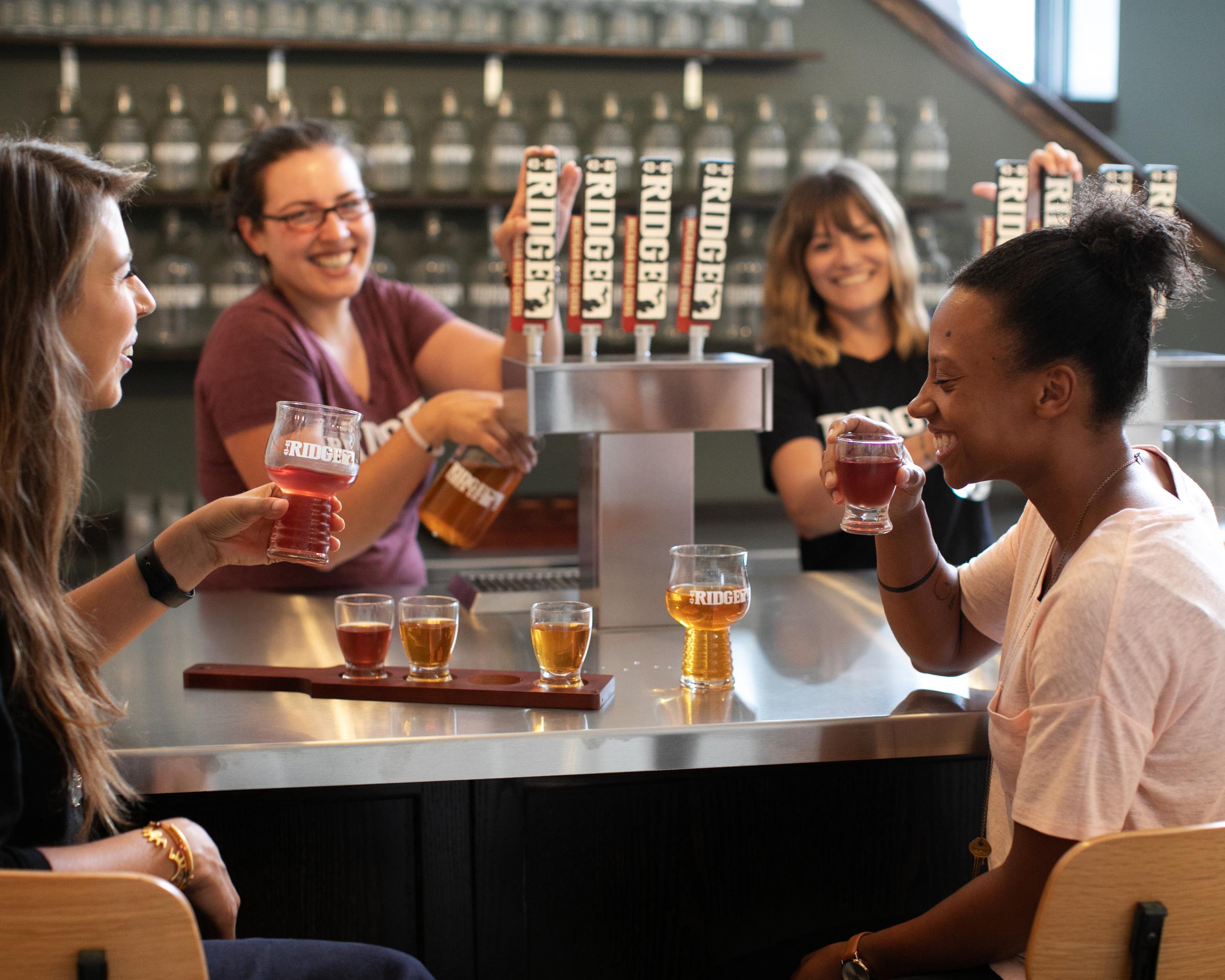 Ridge Cider & Coppercraft Distillery partner on tasting room.