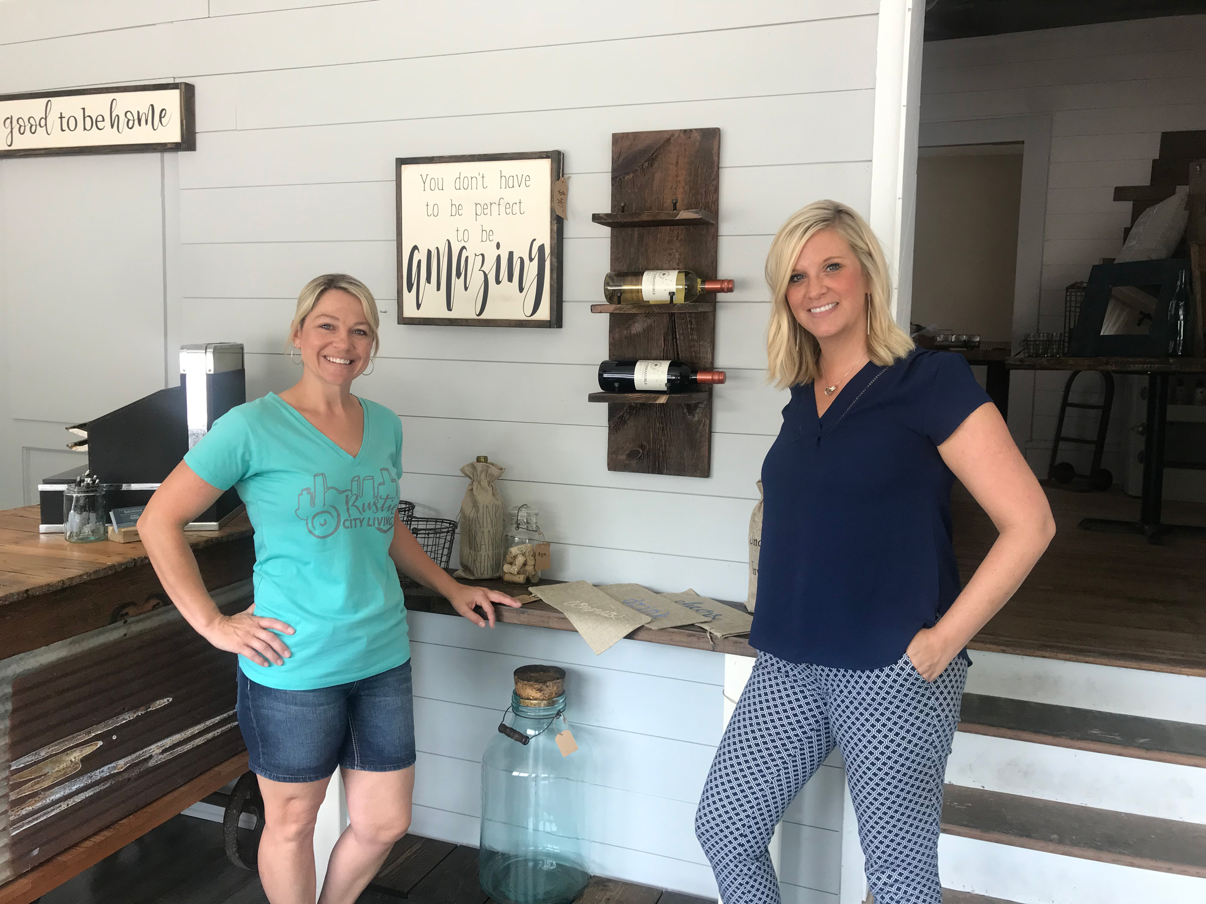 Rustic City Living owners Amy Calvert and Kristy Dipiazza.