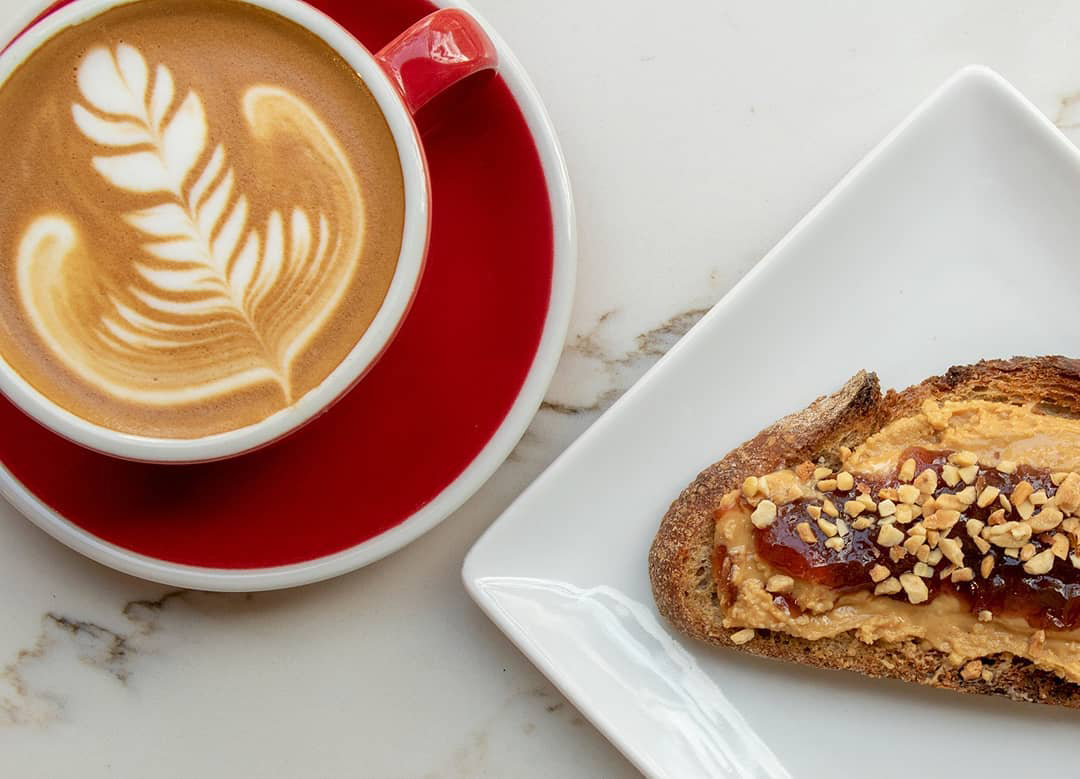 Ferris Coffee (Pictured: coffee with PB&J Toast)