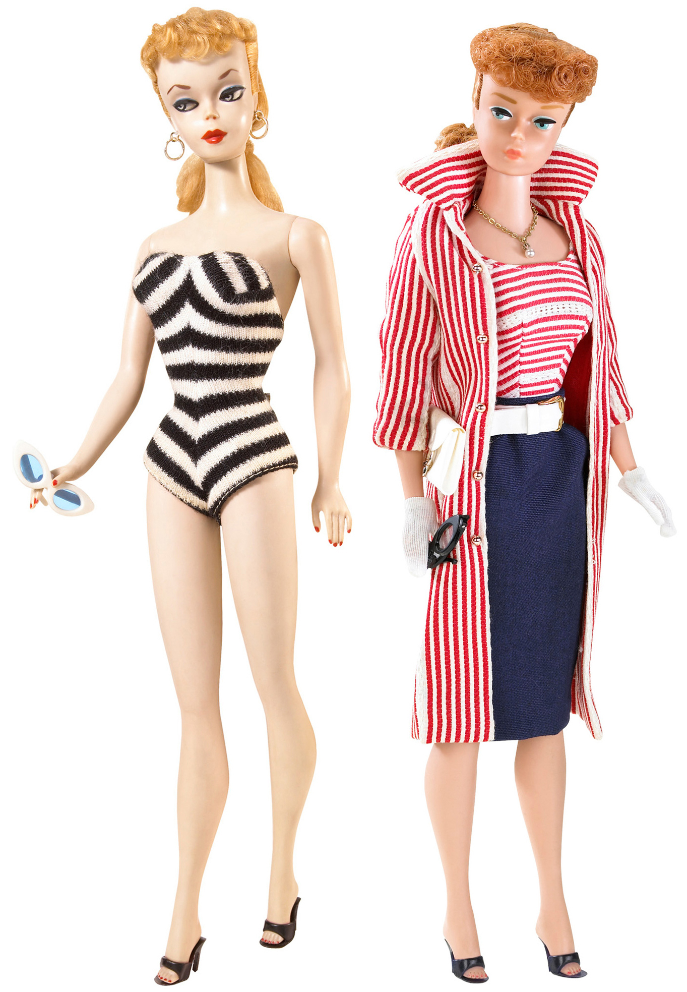 These 1959 Barbies are part of the Grand Rapids Public Museum Toys! exhibit.