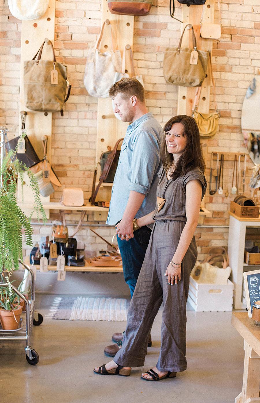 Gemini Handmade owners Marie Welcher & Jacob Vroon.