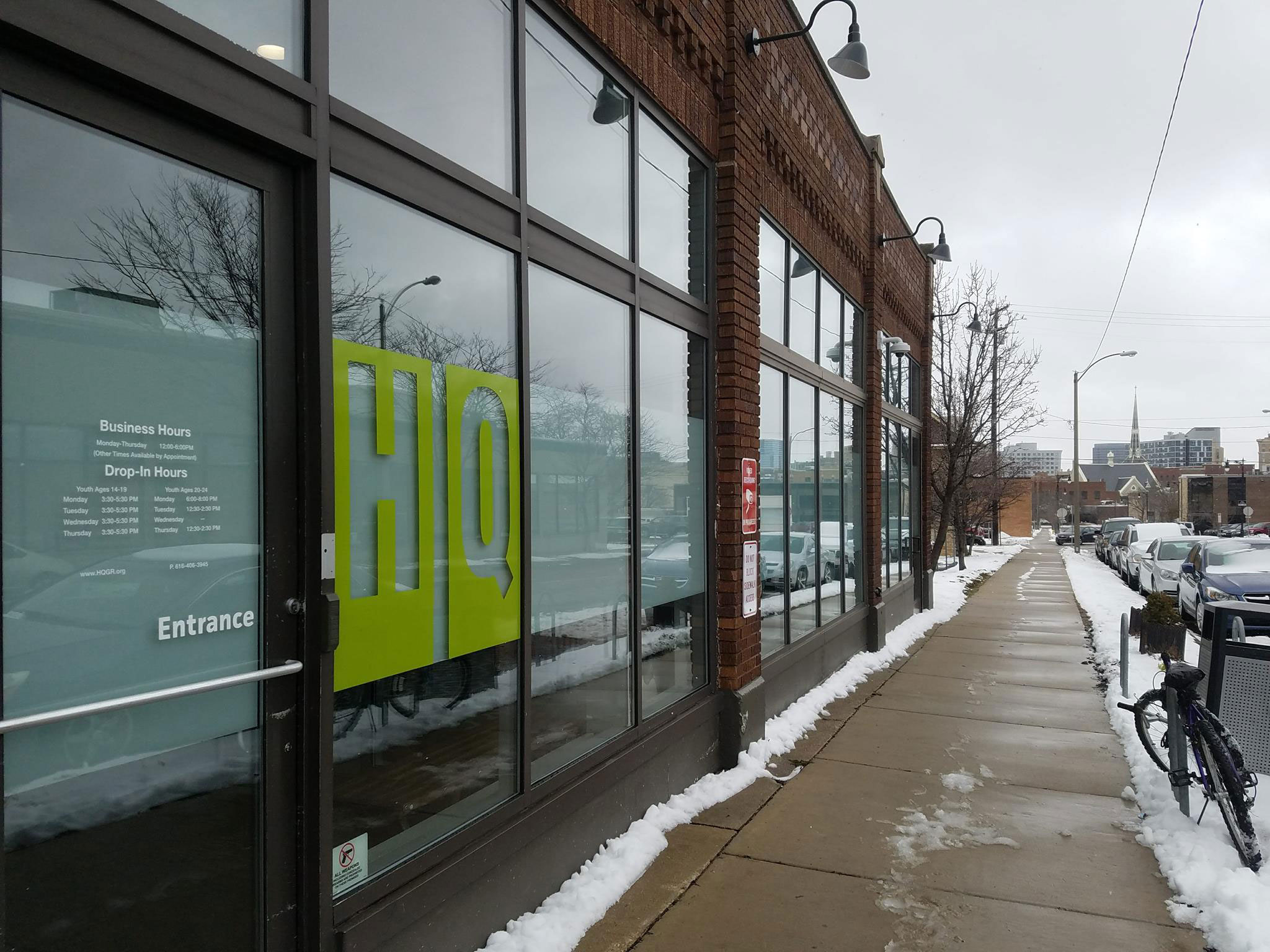 HQ offers drop in hours for homeless youth. Giving them a safe space to go during the day.
