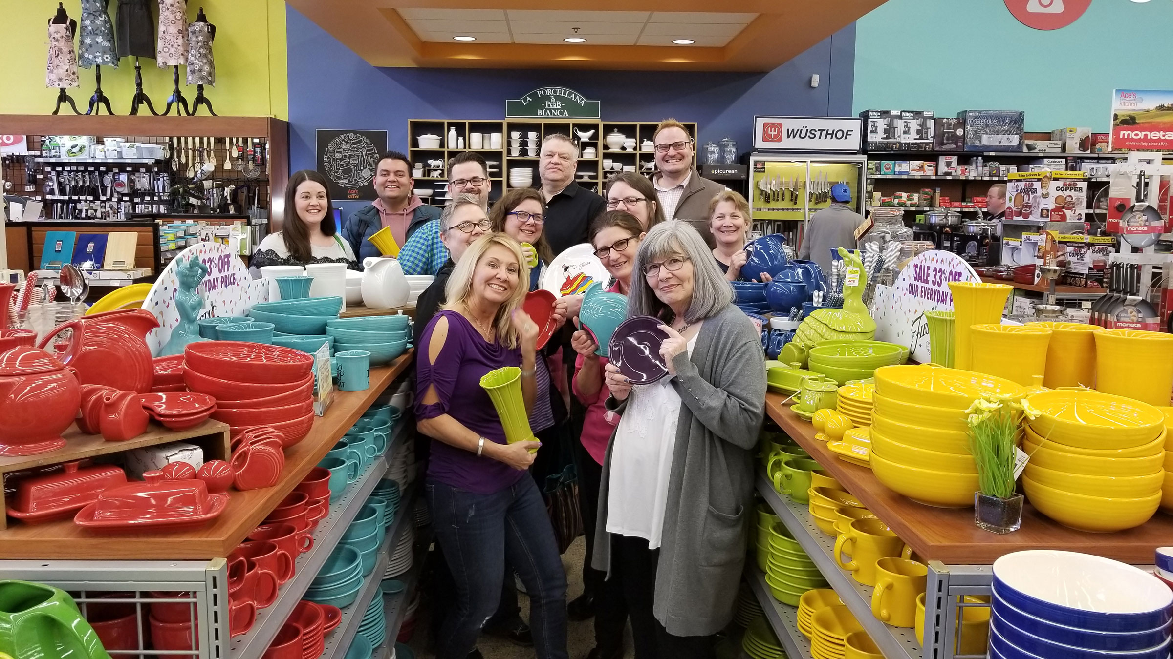 Fiesta seconds are available in December at Rylee's Ace Hardware on Michigan Street.