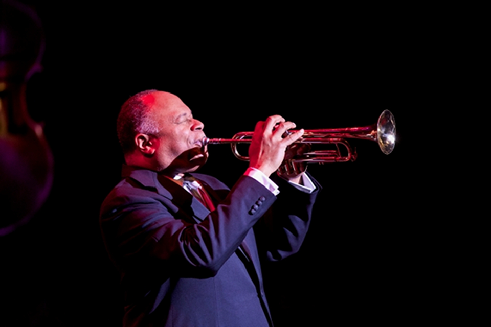 Byron Stripling jazz trumpteter photo by Terry Johnston