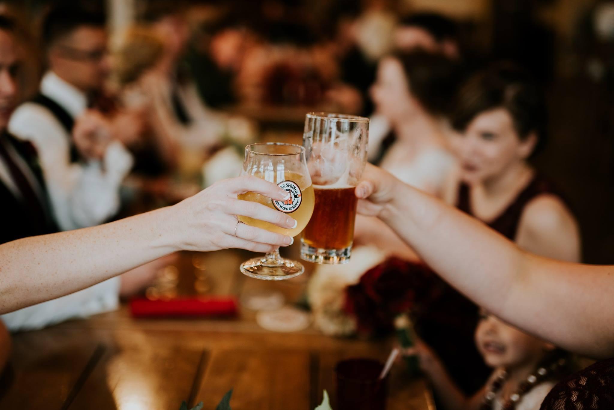 Cedar Springs Brewing Company brewpub beer glasses cheers