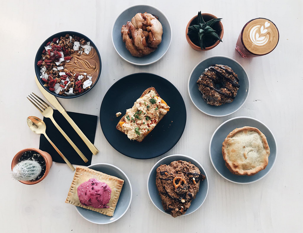 Rise Authentic Baking Co. and Squibb coffee