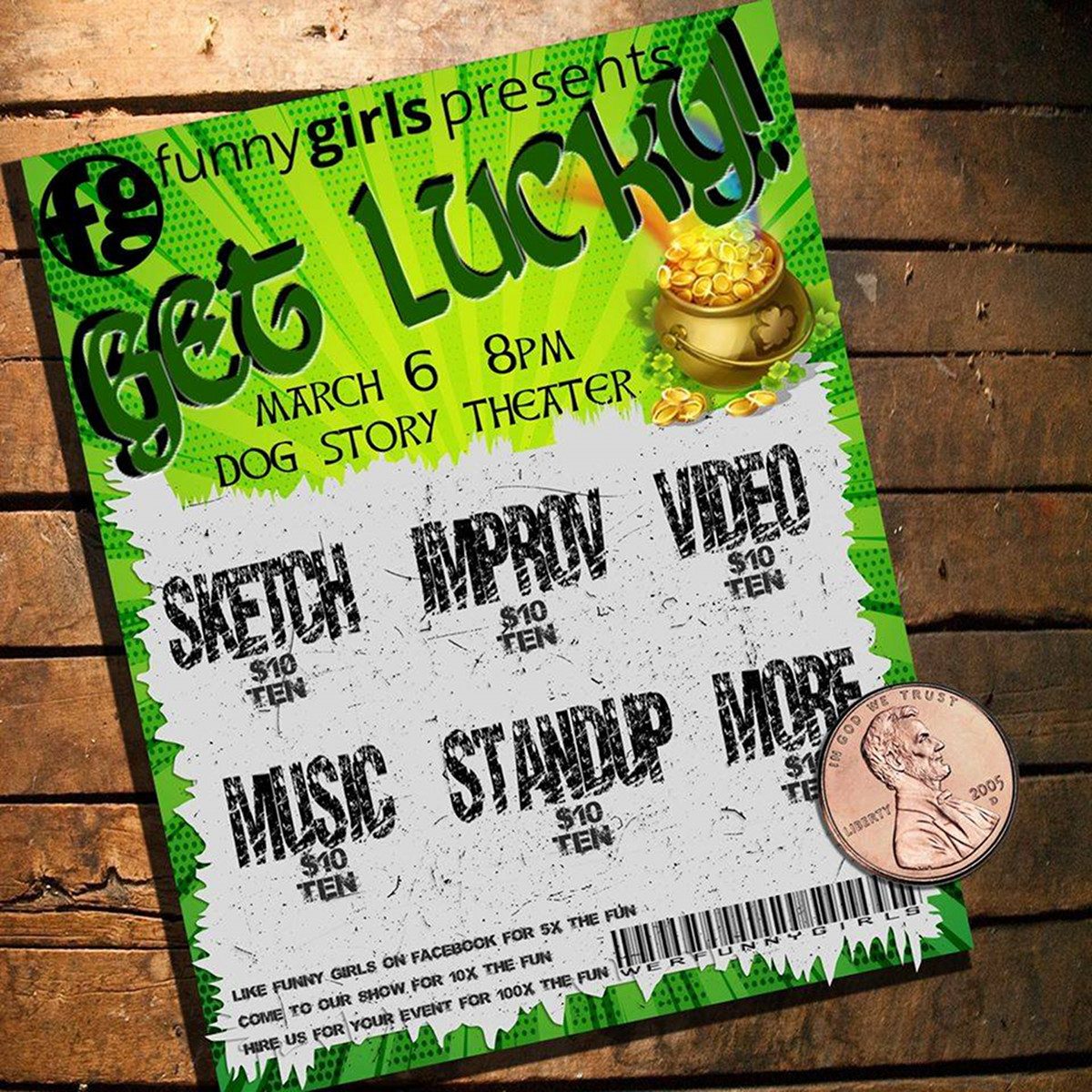 Funny Girls Get Lucky show poster