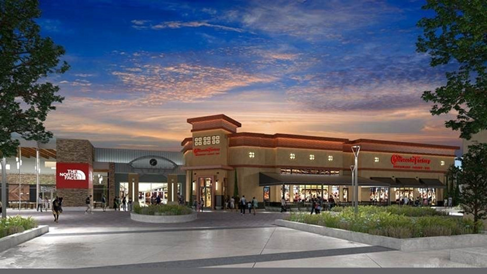 The Cheesecake Factory Woodland Mall exterior rendering