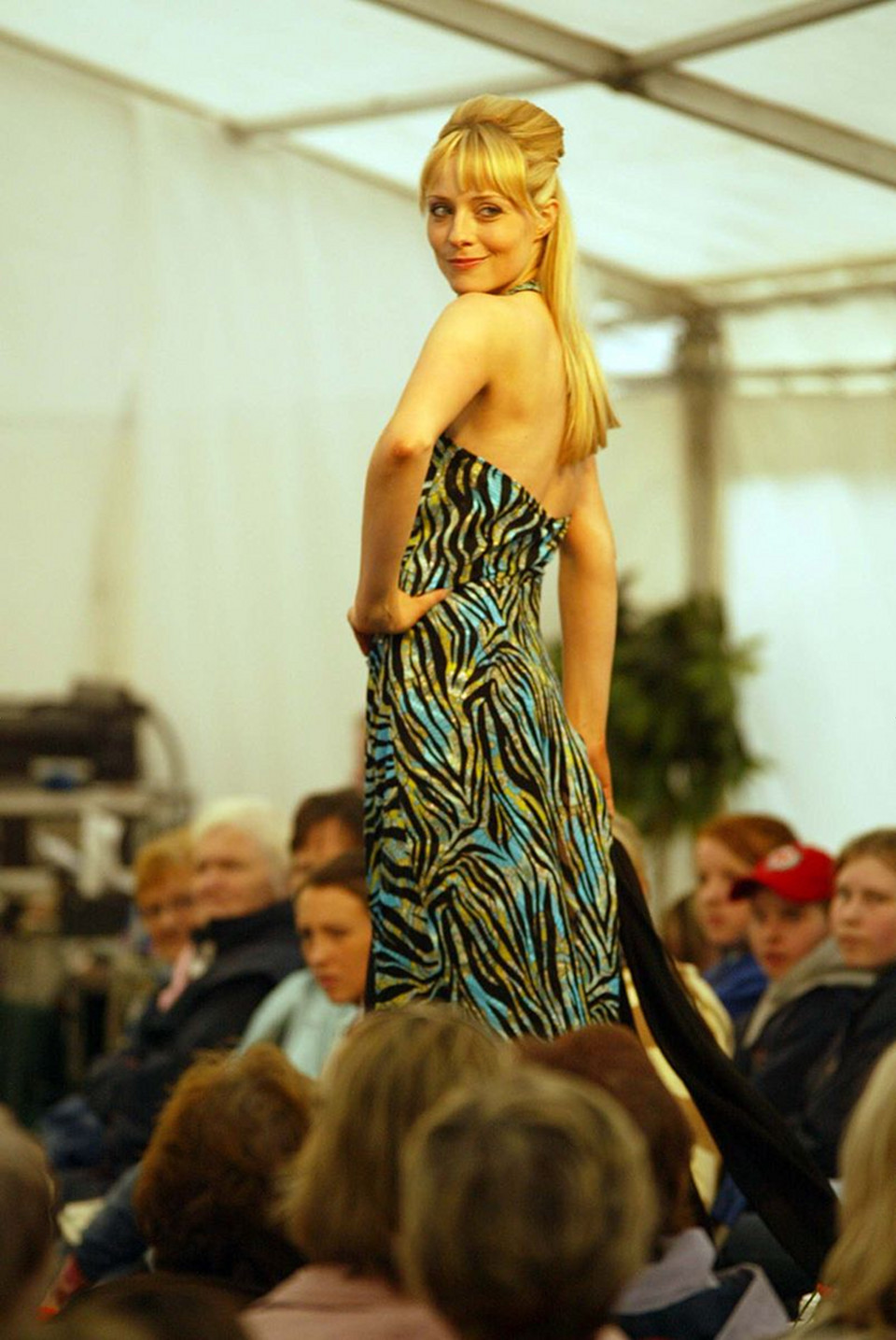 female model fashion show dress