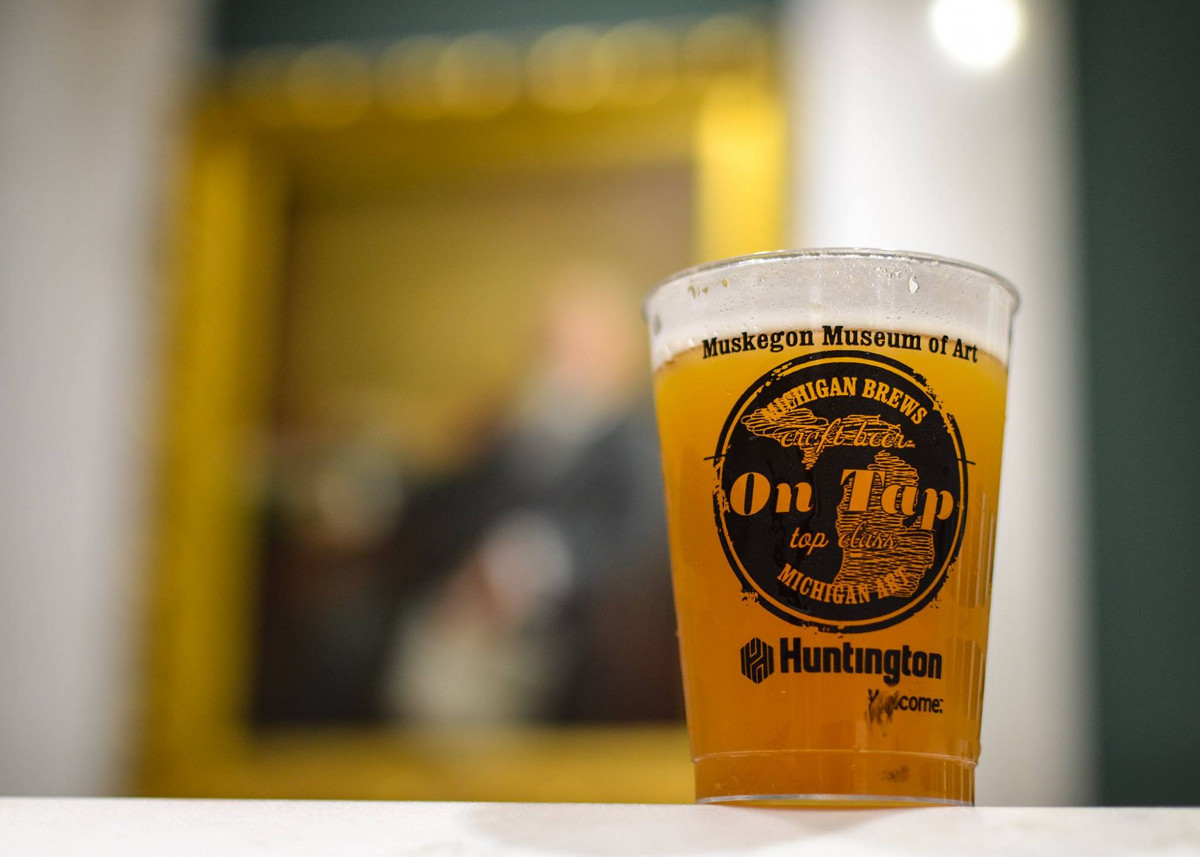 Muskegon Museum of Art On Tap & Uncorked beer glass