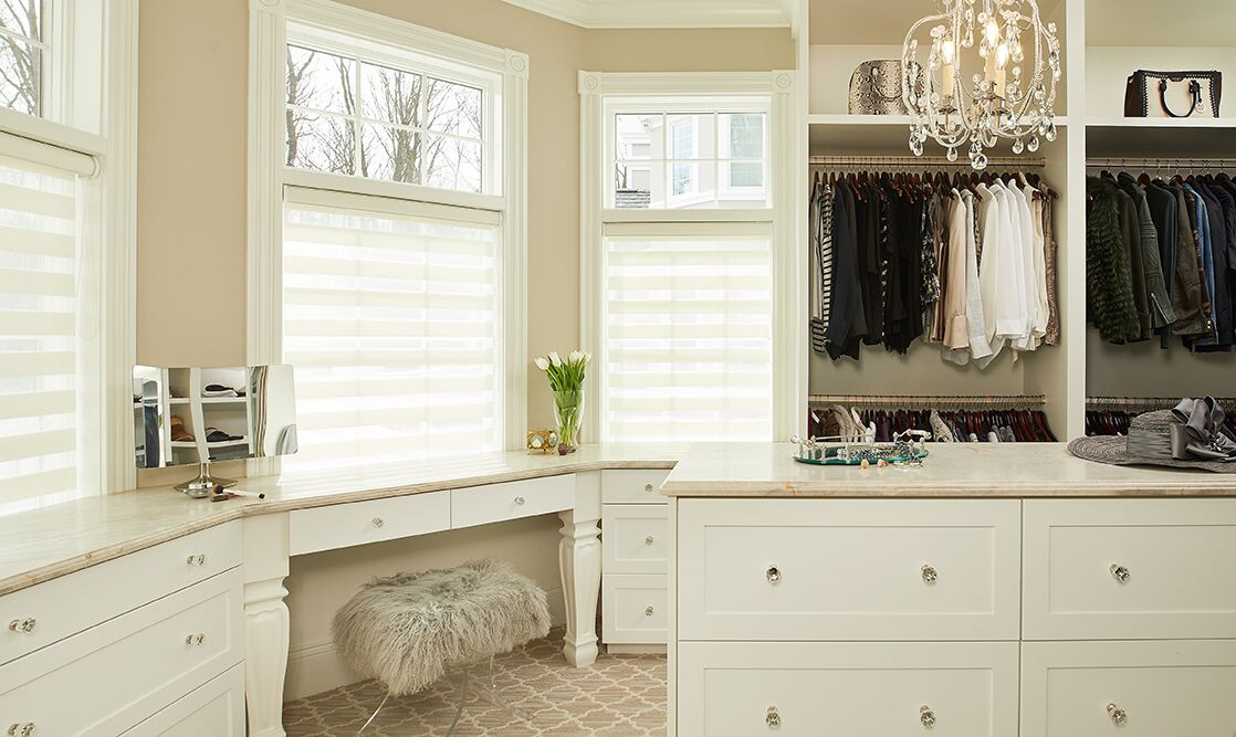 TruKitchens Tammaron Traditional hers closet white