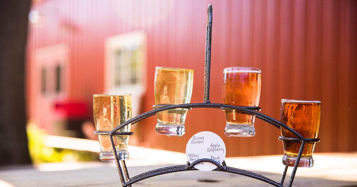 Cider Week GR hard cider glasses Vander Mill