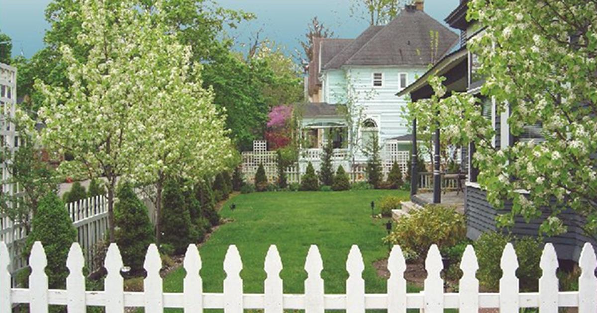 Heritage Hill house backyard