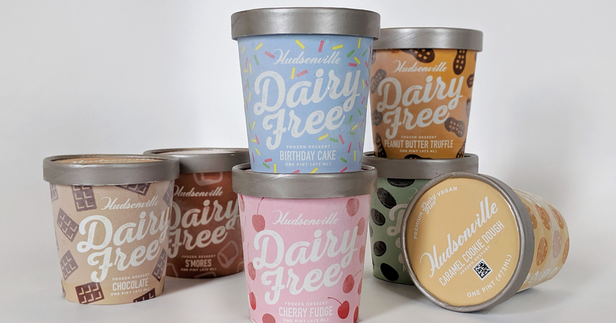 Hudsonville Ice Cream Dairy-Free pints