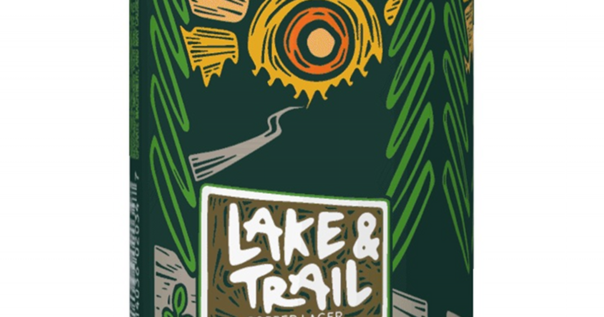 New Holland Brewing Lake & Trail beer can label partial