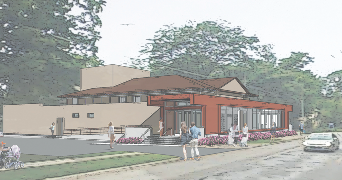 The Playhouse at White Lake renovation exterior rendering