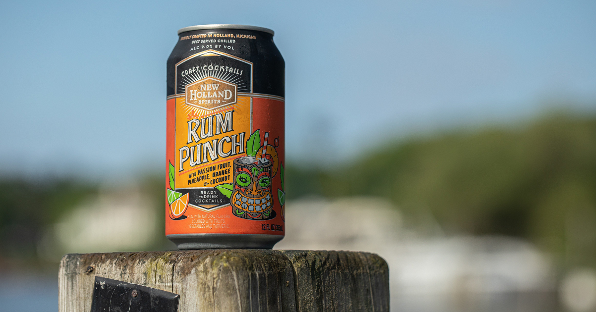 New Holland Spirits Rum Punch cocktail can