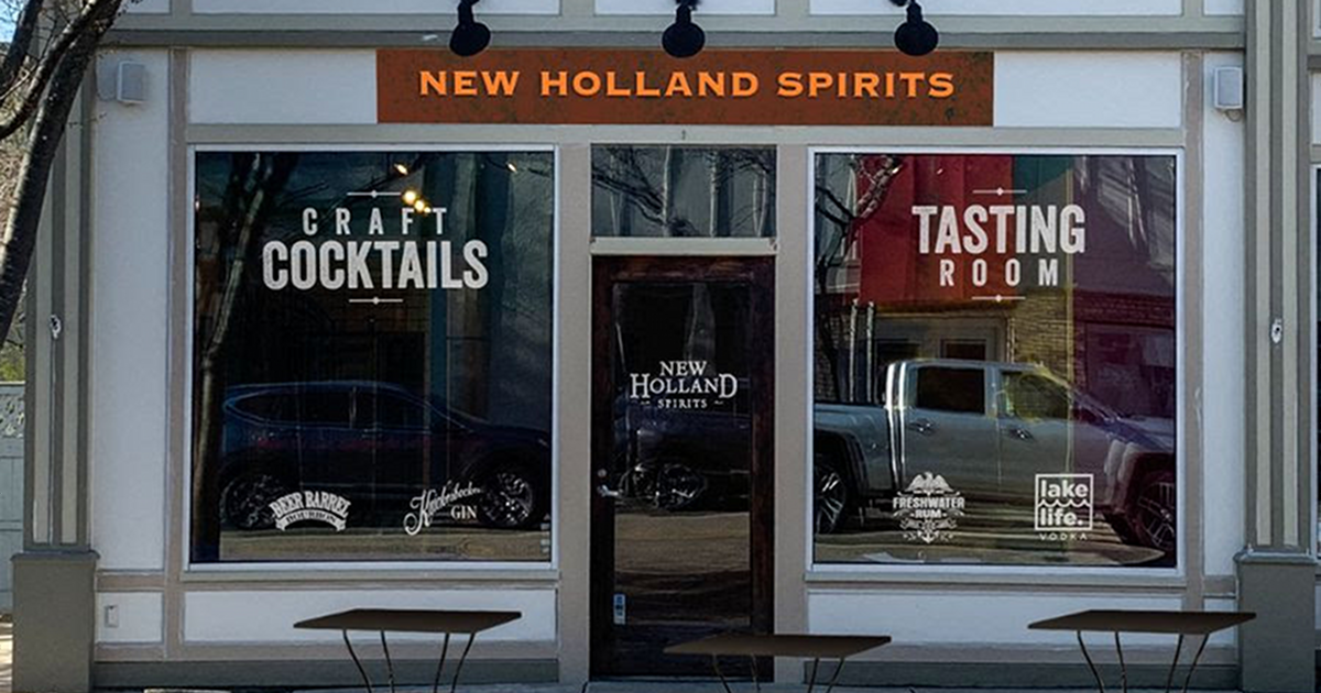 New Holland Spirits Saugatuck tasting room exterior partial